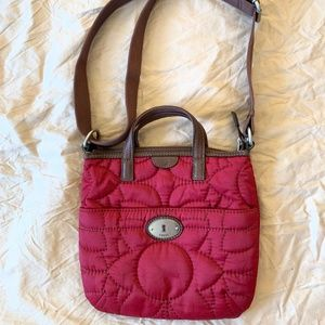 Fossil Key Quilted Crossbody Bag